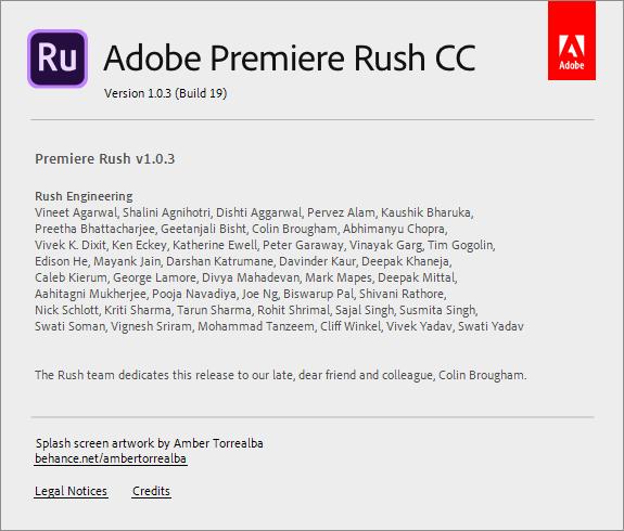 Adobe Premiere Rush CC