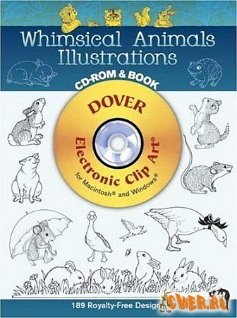 Dover™ Whimsical animals Illustrations