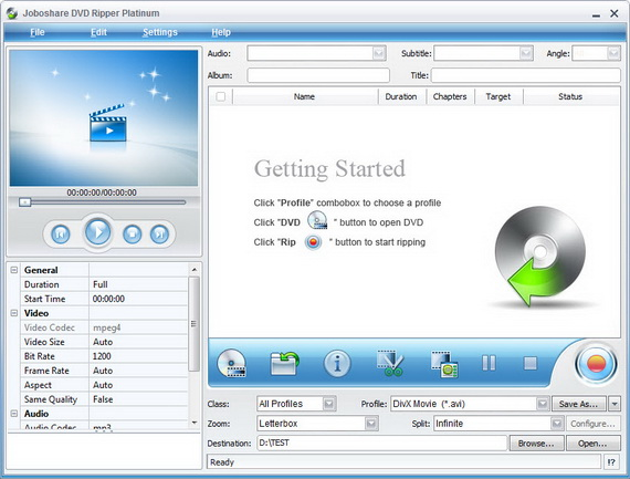 Joboshare DVD Ripper Platinum 3.3.9 Build 0629