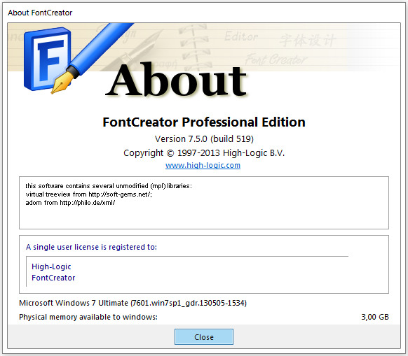 High-Logic FontCreator Professional