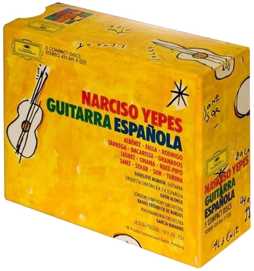 скачать Narciso Yepes. Guitarra Espanola: 5CD box (1992)