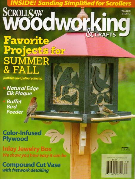 ScrollSaw Woodworking & Crafts №72 (Fall 2018)