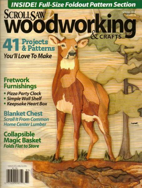 ScrollSaw Woodworking & Crafts №70 (Spring 2018)