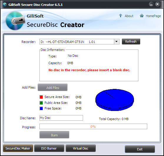 Secure Disc Creator
