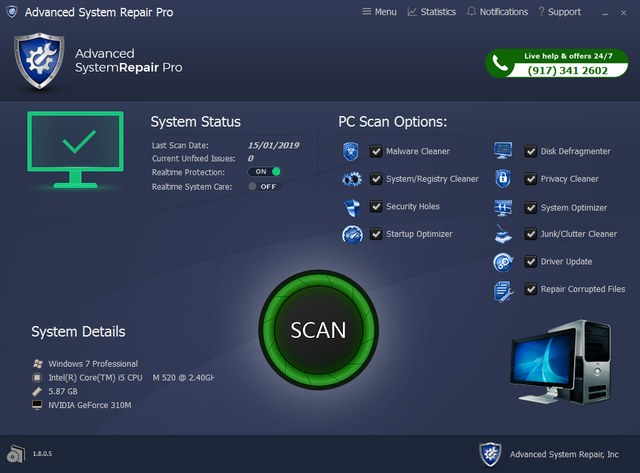 Advanced System Repair Pro 1.8.0.5