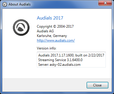 Audials One 2017.1.17.1600