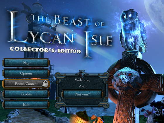 скриншот игры The Beast of Lycan Isle Collector's Edition