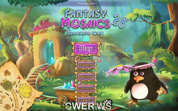 скриншот игры Fantasy Mosaics 28: Treasure Map