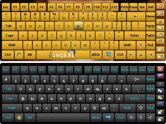 7 экранную клавиатуру на английском и русском windows для