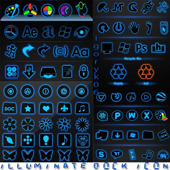 Illuminate Dock Icon Pack