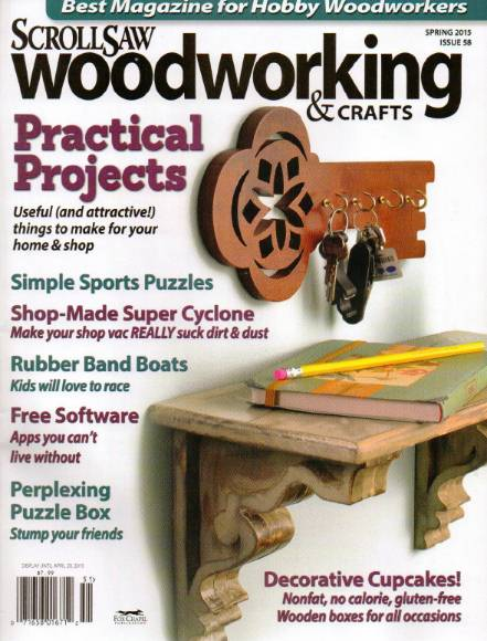 ScrollSaw Woodworking & Crafts №58 (Spring 2015)