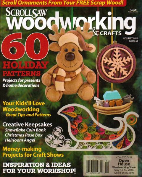 ScrollSaw Woodworking & Crafts №61 (Holiday 2015)