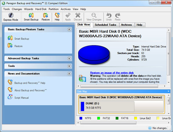Paragon Backup and Recovery 11 Compact Edition